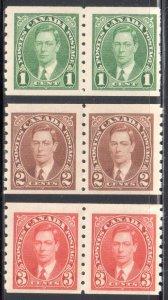 Canada  #238-239-240  VF LH COIL PAIR   C$48.00