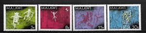 MALAWI, 186-189, MNH, ROCK PAINTINGS