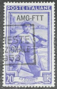 DYNAMITE Stamps:  Trieste Scott #98 – USED