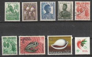 #122,124,126,140-1,257,265 Papua New Guinea Mint OGH & Used