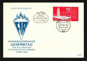 Germany DDR 1956 GEDENKTAG Issue FDC / Unaddressed - Z14108
