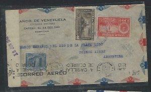 VENEZUELA  COVER (P2709B) 1942 10C+20C+40C CENSOR A/M COVER TO ARGENTINA