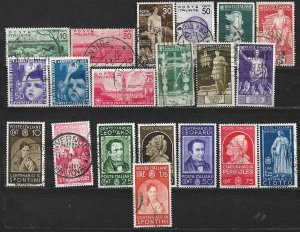 COLLECTION LOT OF 20 ITALY STAMPS 1936+ CV+$52