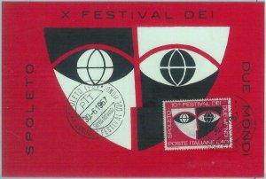 83572 -  ITALY - Postal History -  MAXIMUM CARD 1967 -  ART Festival