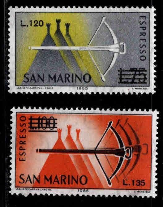 San Marino Scott E26-27 MNH** 1966 Special Delivery stamps