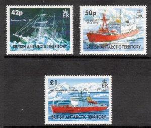 BRITISH ANTARCTIC 2005 HMS Endurance; Scott 350-52, SG 400-02; MNH
