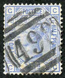 SG157 2 1/2d Blue Plate 22
