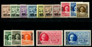 VATICAN Q1-Q15 MINT NH, 1931 PARCEL POST