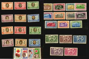 Guatemala MLH stamps lot old Columbus flag bird archaeology red cross theatre