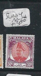 MALAYA SELANGOR  (P2206B) SULTAN  30C  SG 104   MNH
