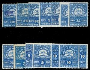U.S. TENNESSE ST. REVS T1-11  Mint (ID # 17557)