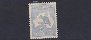 AUSTRALIA  1915 - 27    S G 38   6D  ULTRAMARINE    MH   OLD HINGE REMAINS