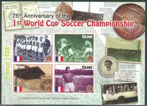 GHANA 75th ANNIVERSARY WORLD CUP SOCCER SC#2478  SHEET IMPERFORATED MINT NH