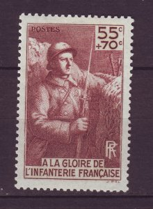 J24637 JLstamps 1938 france mh #b71 soldiers