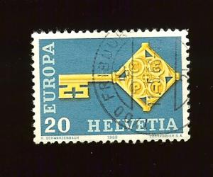 Switzerland 488  Europa Cept 1968 used hinged