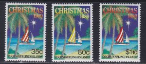 Cocos Islands # 207-209, Christmas, NH, 1/2 Cat.