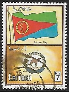 Eritrea # 348 - Flag & Dromedary on Seal - used  -{BR17}