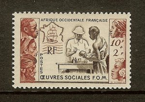 French West Africa, Scott #B3, 10fr + 2fr Tropical Medicine Issue, MH