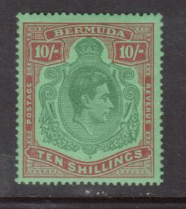 Bermuda #126 (SG #119e) Very Fine Never Hinged Variety