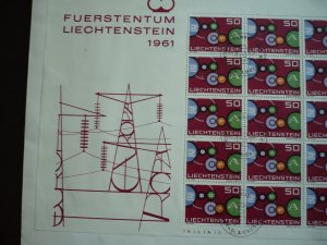Europa 1961 - Liechtenstein- Full Sheet of 20 Stamps - Used