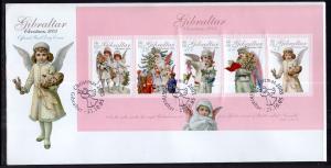 Gibraltar 1033a Christmas Souvenir Sheet U/A FDC