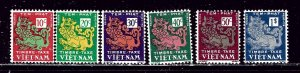 South Vietnam J1-6 MH 1952 Postage Dues