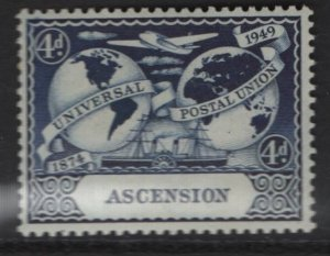 ASCENSION  58    MINT HINGED UPU 1949