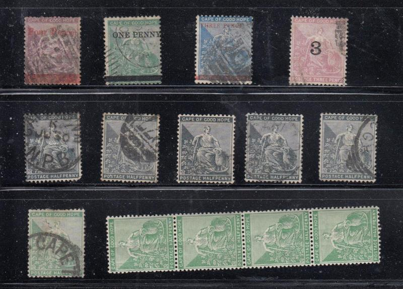 CAPE OF GOOD HOPE SELECTIONS OF MINT AND USED O/PRINTS ETC HIGH VALUE?