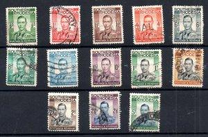 Southern Rhodesia KGVI 1937 fine used set SG40-52 WS18717
