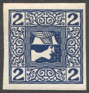 AUSTRIA 1908  Sc P15  2h Mercury Newspaper stamp MNH, VF cv $4