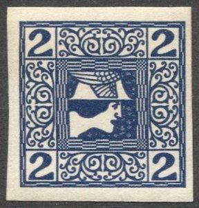 AUSTRIA 1908  Sc P15  2h Mercury Newspaper stamp MNH, VF cv $4