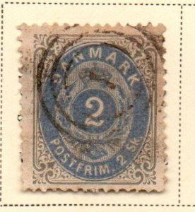 Denmark Sc 16 1871 2 s gray & ultra Arms stamp used