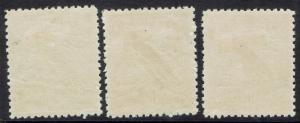 NEW GUINEA 1931 DATED BIRD AIRMAIL 5D 6D AND 9D