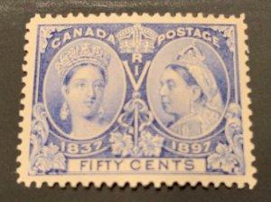 Canada #60 MINT VF/XF LH Jubilee C$500.00  -WOW-