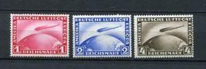 Germany,1928-31, Sc C35-7,Mi 455,423-4 MNH Graf Zeppelin CV 510 euro. g1318s