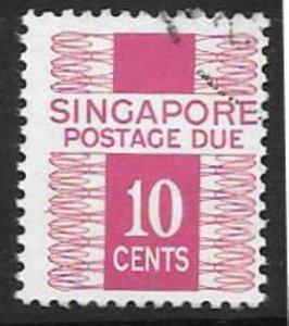 SINGAPORE SGD13 1977-78 10c BRIGHT MAGENTA POSTAGE DUE FINE USED