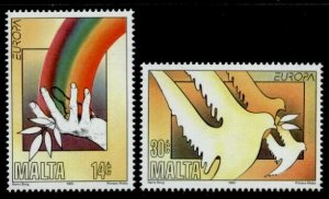 Malta 857-8 MNH EUROPA, Peace & Freedom, Doves