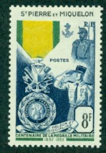 St. Pierre & Miquelon #345  Mint  VF VLH  Scott $17.00