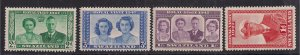 Swaziland 1947 KGV1 Set of 4 Royal Wedding stamps Umm SG 42 - 45 ( D991 )