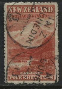 New Zealand 1902 5/ vermilion CDS used