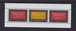 Netherlands  #B407-B408a  MNH 1966  sheet  European migration