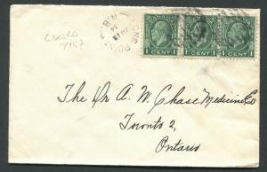 NEW BRUNSWICK SPLIT RING TOWN CANCEL COVER LONG POINT