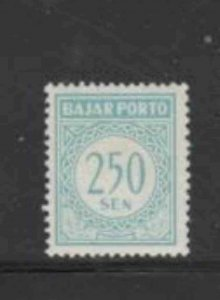 INDONESIA #J81 1958 250s POSTAGE DUE MINT VF NH O.G