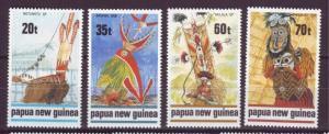 J18781  jlstamps 1989 p.n.g. mnh set #721-4 designs