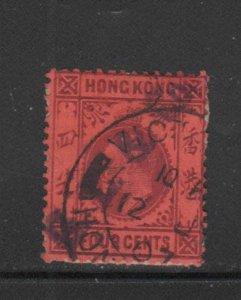 HONG KONG #74  1903  5c  KING EDWARD VII    USED F-VF