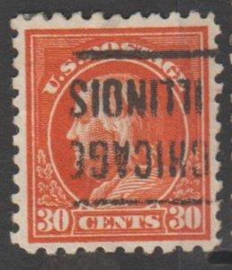 U.S. Scott #439 Franklin Stamp - Used Single