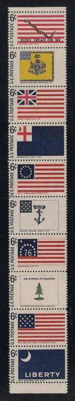 US#1354a Strip of 10 - Unused - O.G. - N.H.