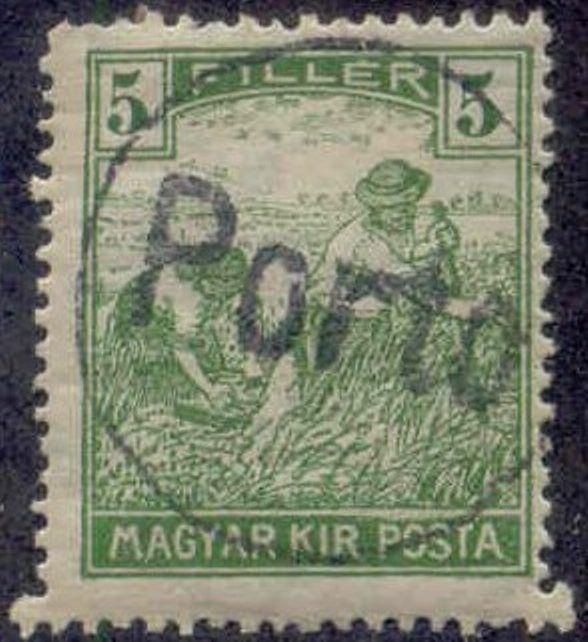 Hungary 1915-8 'PORTO in Circle' Postage Due Overprint  on 5f Harvesting Stamp
