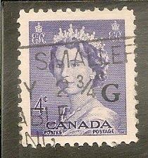 Canada Scott O36  Queen Used