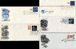 25c FDC First Day of Issue Cover Collection Philatelic Mail Stationery Envelopes
